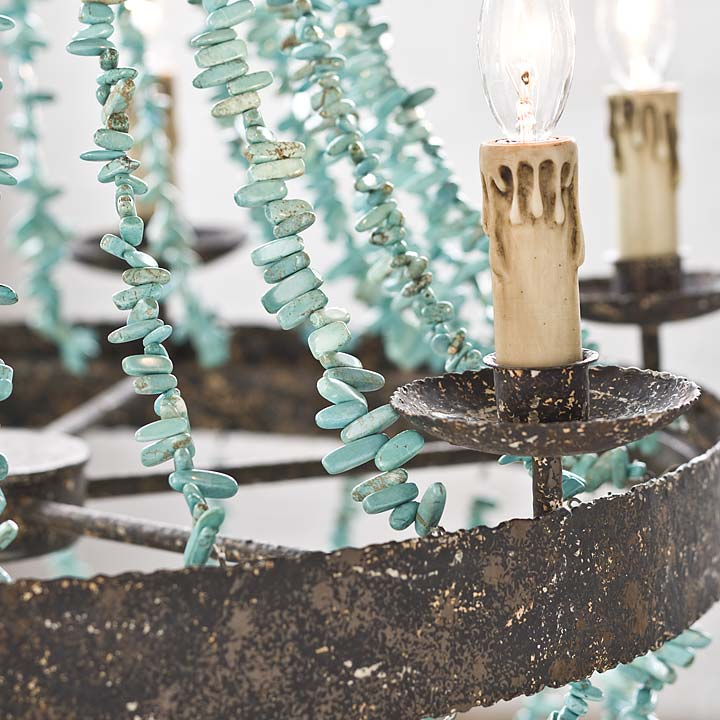 Day 9 of Things I LoveTurquoise Chandeliers | Tobi Fairley